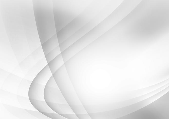 Línea de color gris y blanco curva en el fondo con espacio de copia, ilustración vectorial