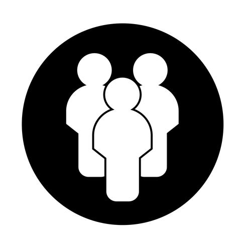 Sign of people icon