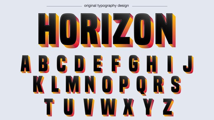 zwarte vette typografie