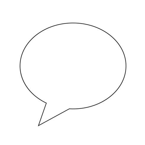 icono de burbujas de discurso ilustración vectorial