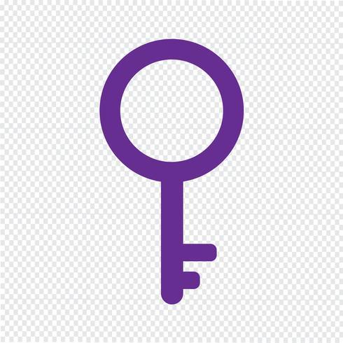 Illustrazione vettoriale chiave icona