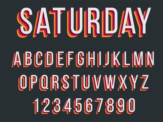 Färgrik röd typografi design