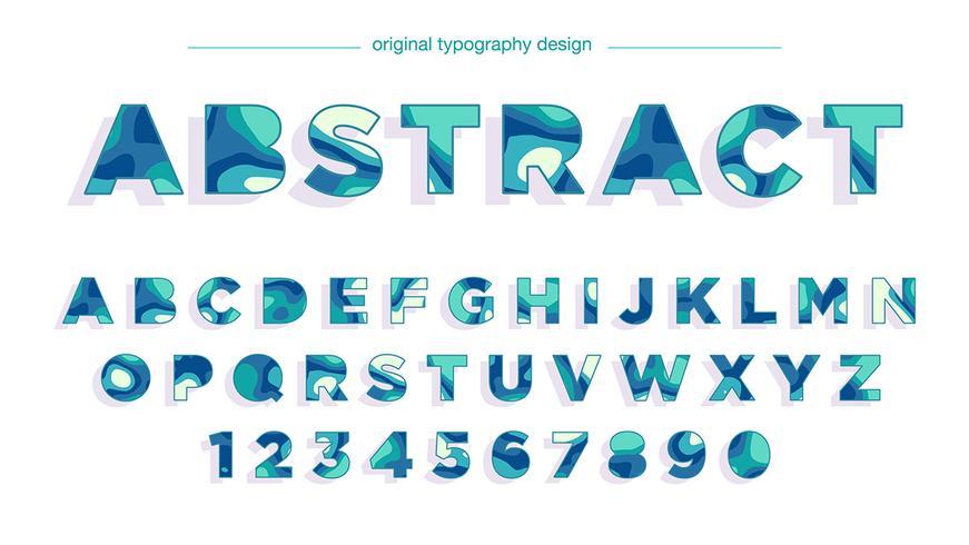 abstracte blauwe vette typografie
