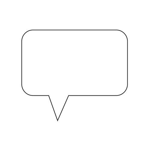 talbubbla ikon vektor illustration