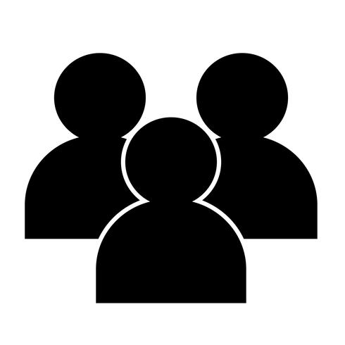 Sign of people icon vector