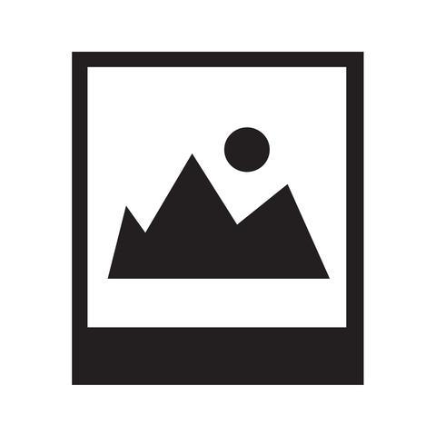 Illustrazione di vettore dell'icona della fotografia