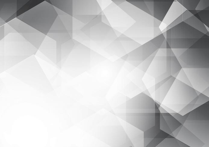 Weißer und grauer Farbpolygonzusammenfassungs-Vektorhintergrund
