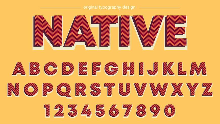 Röd Zig Zag Stripes Typografi