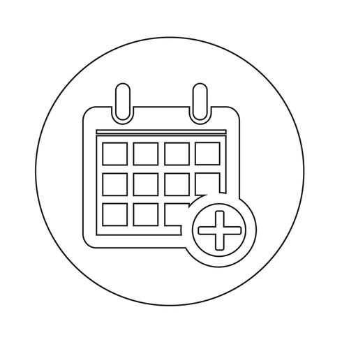 Teken van het pictogram van de kalender