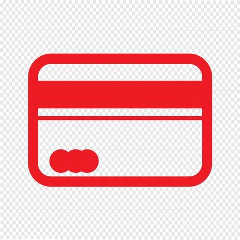 Kreditkort ikon vektor illustration