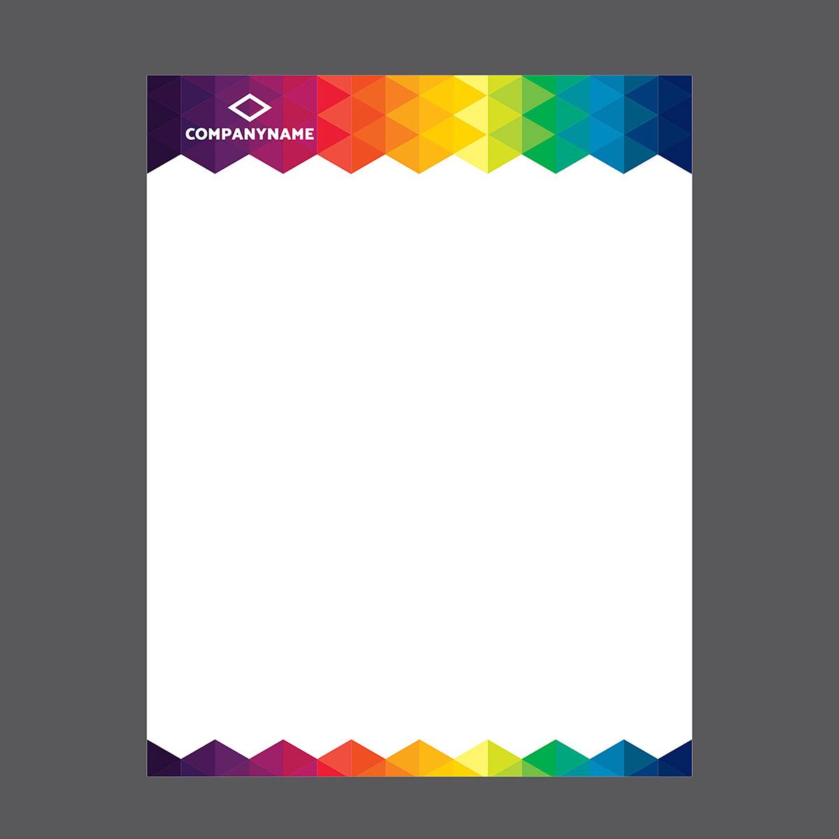 Colorful Letterhead Template