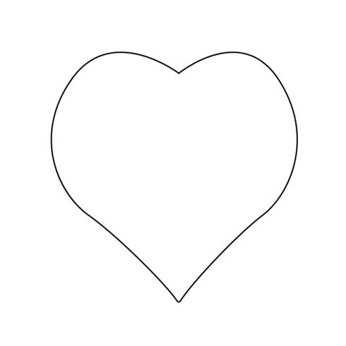 Hjärta ikon vektor illustration