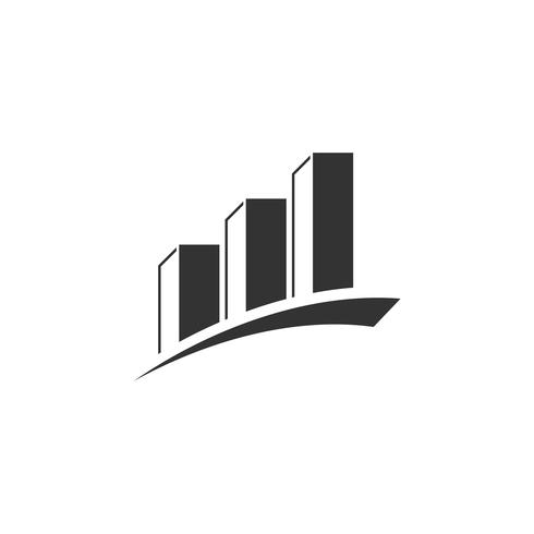 Bolsa de Valores Finanzas Logo Plantilla Ilustración Diseño. Vector EPS 10.
