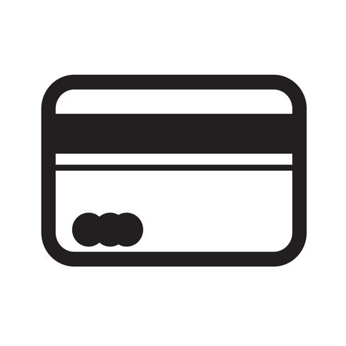 Credit card icon vector illustration