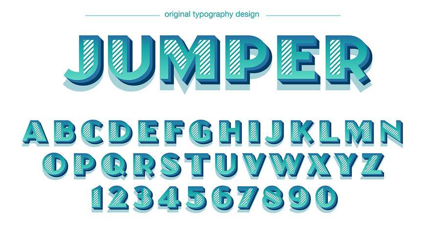 Tipografia Azul Negrito Retro
