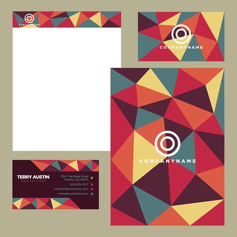Plantilla de papelería de negocios colorido