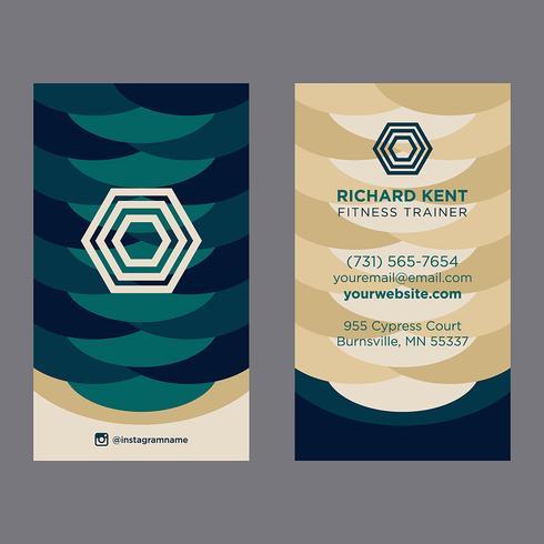 Färgrikt visitkort