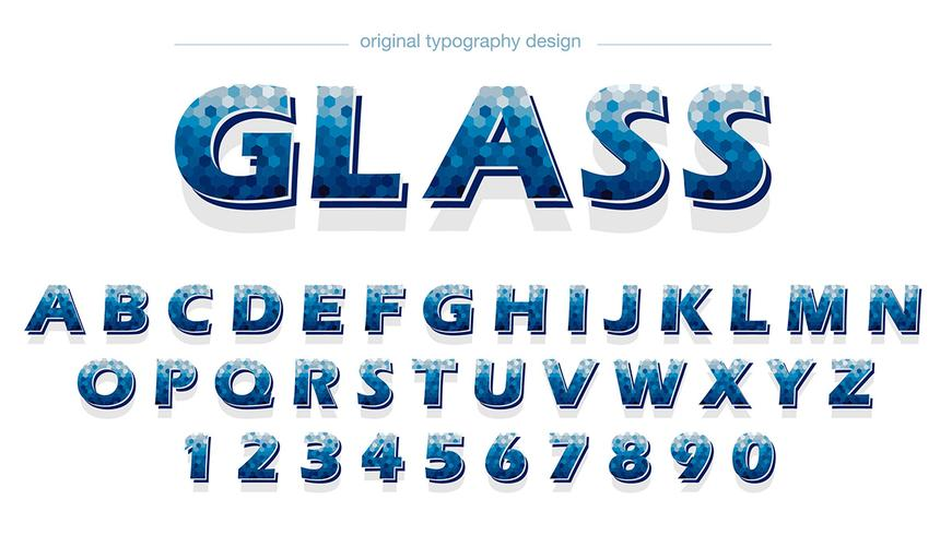Abstract Blue Typography Design