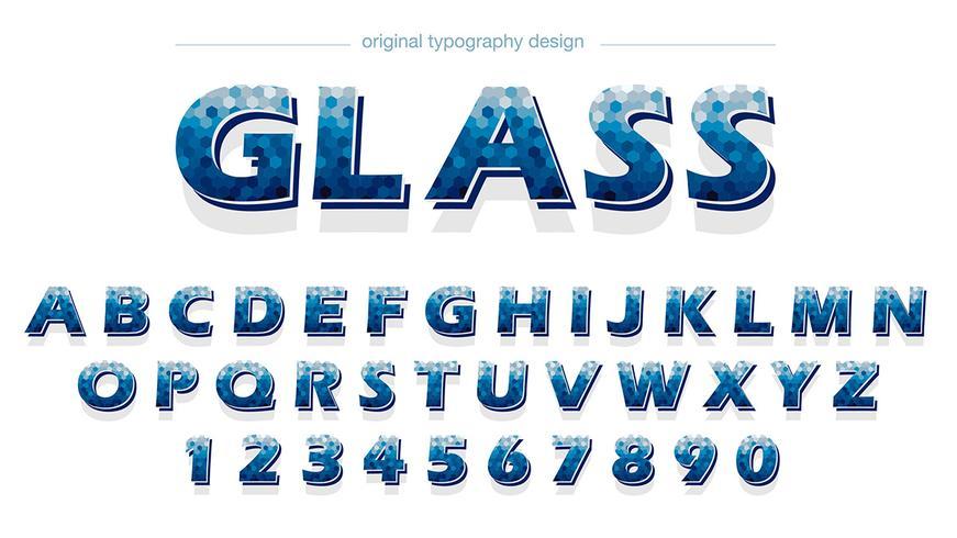 Abstrakt blå typografi design