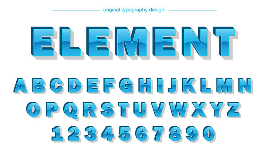 Glossy Blue Typography