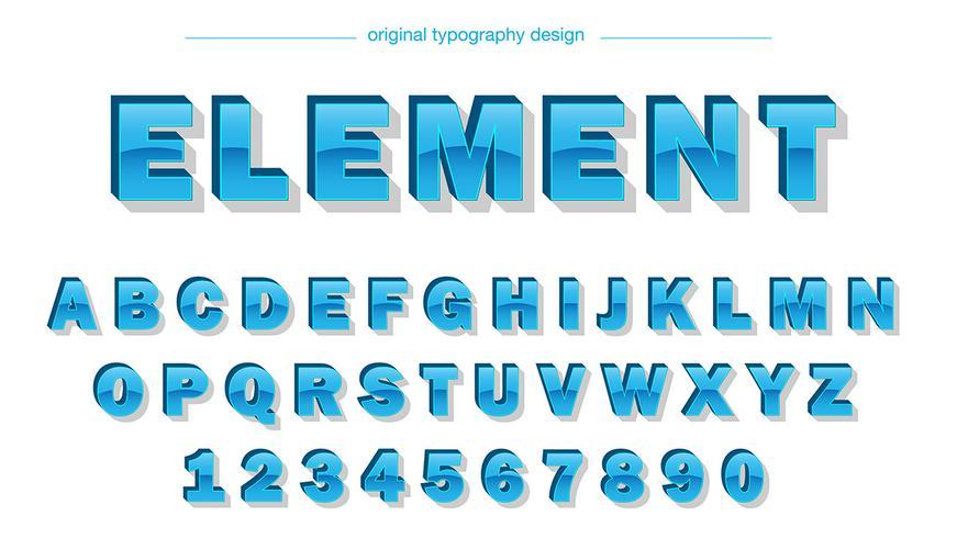Tipografía azul brillante