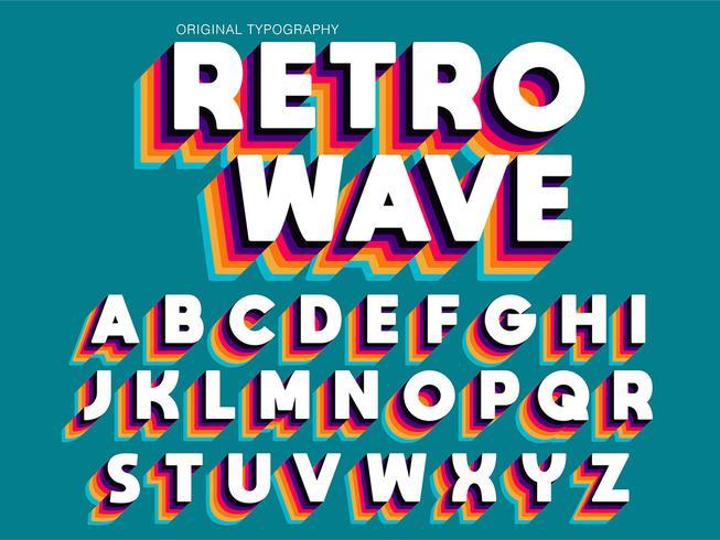 Tipografía colorida intrépida adicional del vintage