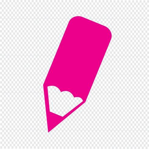 Bleistift-Symbol Vektor-Illustration