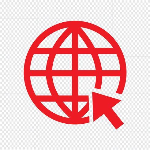 Vai al sito Web Internet icona illustrazione vettoriale