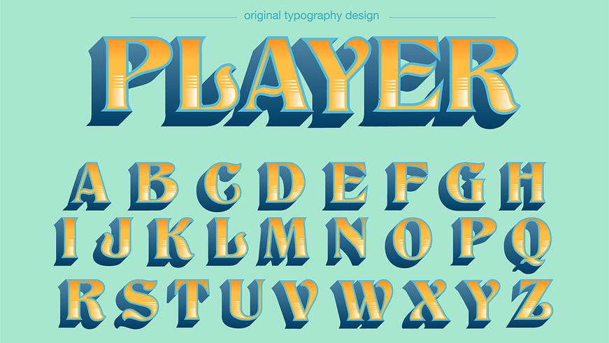 Classic Bold Blue Yellow Typography - Download Free Vector