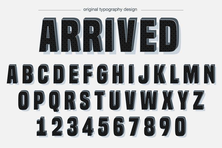 Bold Carbon Fiber Typography