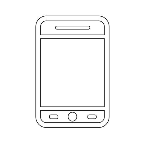 icono de teléfono inteligente ilustración vectorial