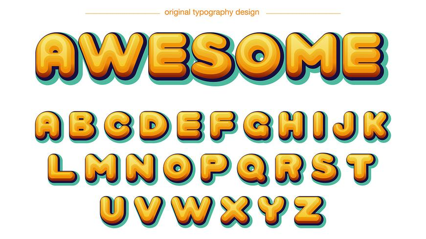 comics tipografia amarilla