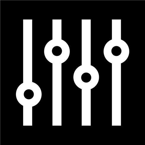 Justering musik ikon vektor illustration