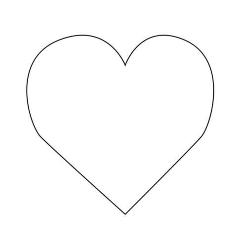 Illustration vectorielle de coeur icône