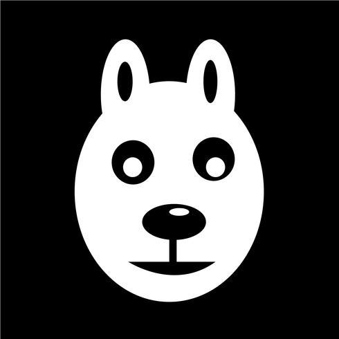hund ikon vektor illustration