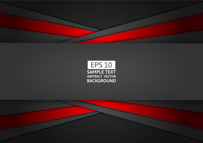 Red and black geometric abstract background modern design, Vector illustration