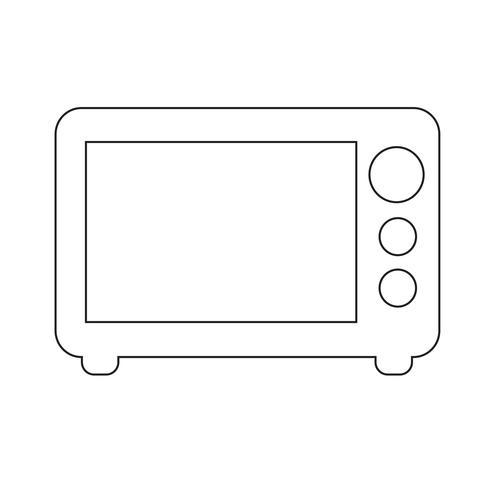 Microwave icon vector illustration