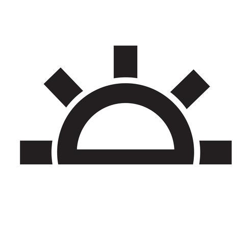 Väder ikon vektor illustration