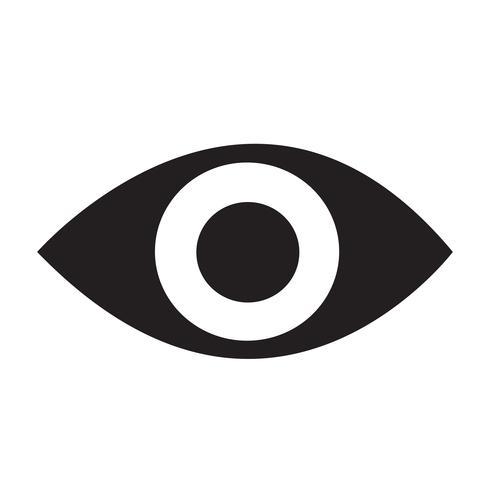 icono de ojo ilustración vectorial