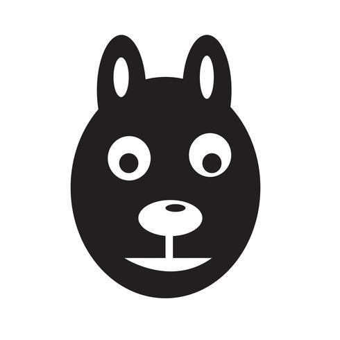 Hund Symbol Vektor-Illustration