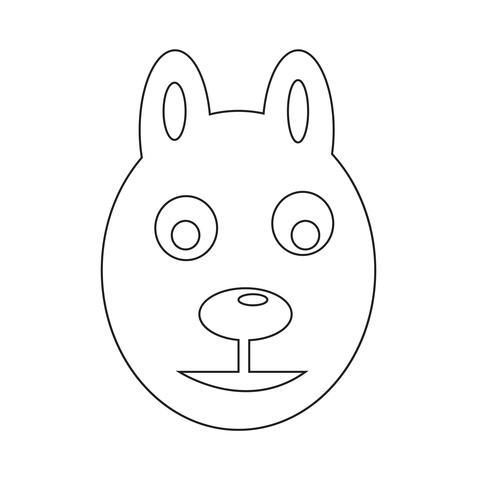 cane icona illustrazione vettoriale