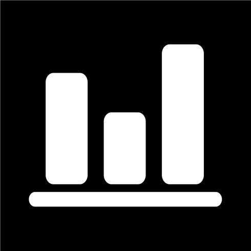 Diagrama simple ilustración de vector de icono de gráfico