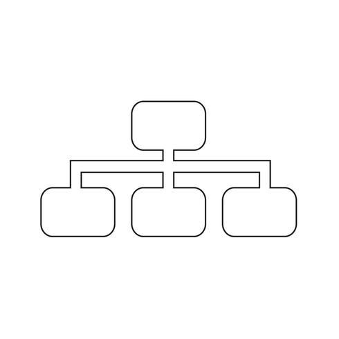 Eenvoudige diagram grafiek pictogram vectorillustratie