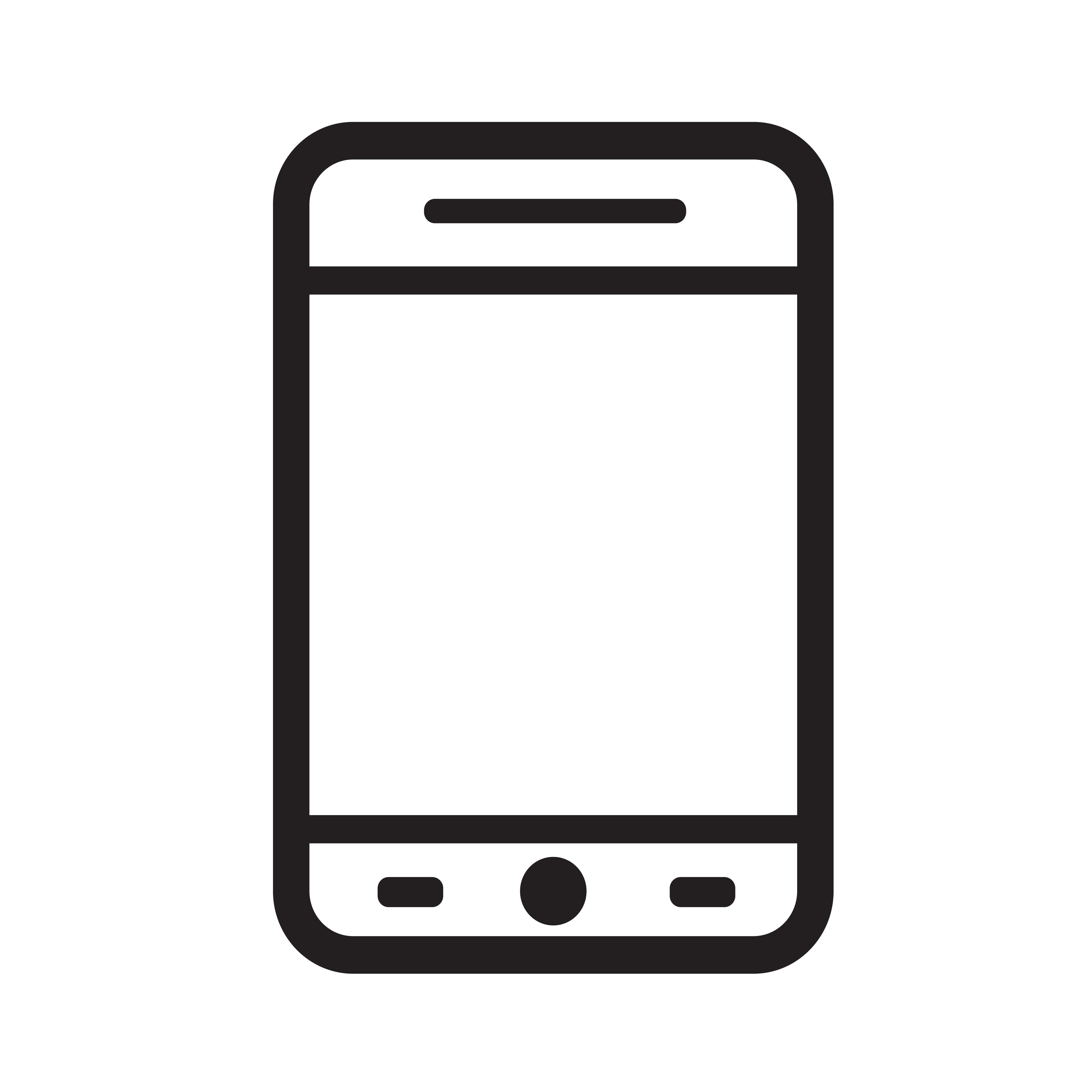 smartphone icon vector illustration - Download Free ...