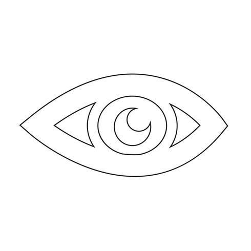 Illustration vectorielle d'oeil icône