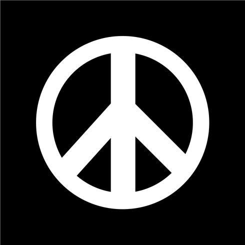 Ilustración de vector icono de signo de la paz