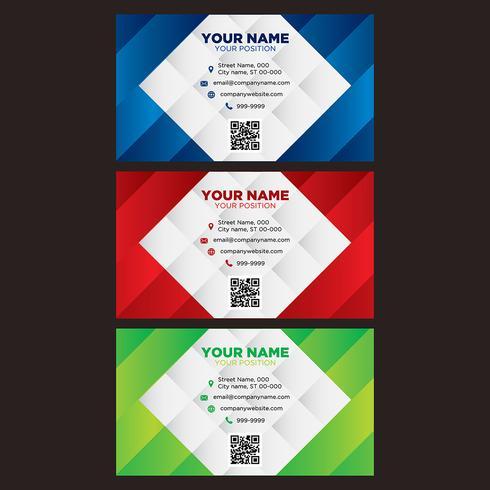 Collezione di biglietti da visita colorati vettore
