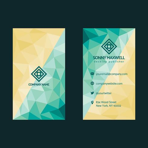 Low Poly Business Card Design