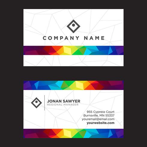 Colorful Low Poly Business Card