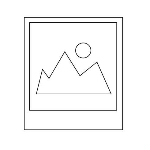 Icône de la photographie Illustration vectorielle